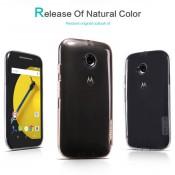 Ультратонкий чехол накладка TPU Nillkin Nature для Motorola Moto E2