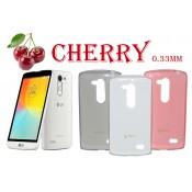 Ультратонкий чехол накладка TPU Cherry для LG L Fino Dual D295
